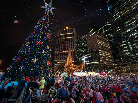 Lighting of the Brisbane Christmas Tree